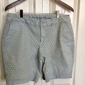 Khakis Gap Bermuda Shorts White Polka dots Sz 12